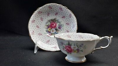 Paragon Double Warrant Floral Pink Rose - Cup & Saucer