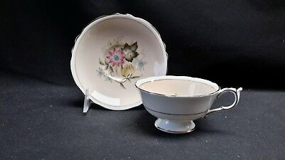 Paragon Double Stamp A706-5 Peach Floral - Cup & Saucer