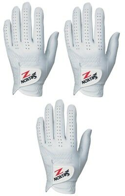 Srixon Z Cabretta Leather Golf Glove Left Hand 3 Pack Gloves - New - Pick Size