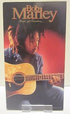 Music Songs Of Freedom Bob Marley 4 Cassette Tapes Box Set Uk Tgmbx1 Island 1992 Vgc