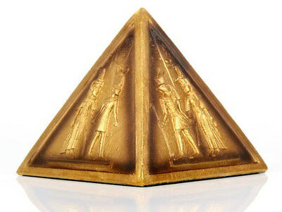 Decorative Gold Egyptian Pyramid Ornament Collectable Gift