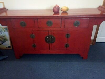 Red lacquered alter table -Chinese