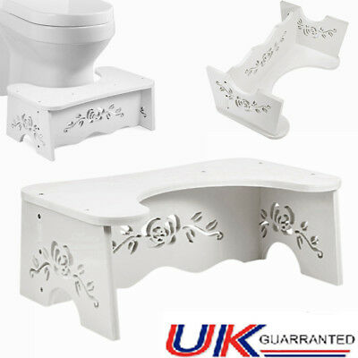 7'' Toilet Squatty Step Stool Potty Squat Aid For Constipation Relief Large Size