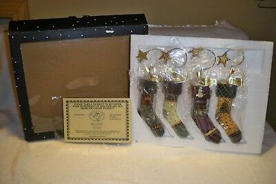 NEW-1998 Williraye Stocking Ornaments-Set of 4-(has Registration for Collector)