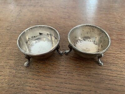 Antique Sterling Silver Salt And Pepper Pinchers - Early 1900s - 61.3 Grams