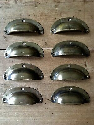 Antique Drawer Pull Cup Handles Brass Victorian Vintage Reclaimed £15 Each
