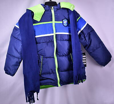 iXtreme Big Boys' Colorblock Winter Puffer Jacket - NAVY