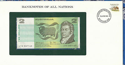 Banknotes of All Nations Australia 2 Dollars 1979 P43c UNC Knight/Stone JTS