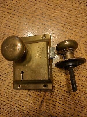 Antique Brass Door Knob With Back Plate