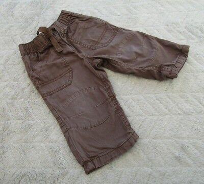 Baby Boys 100% Cotton Brown Cargo Pants Trousers (6-9 Months) - By Next