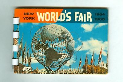 Vintage 1964-1965 New York WORLD's FAIR Mini ALBUM Booklet! (Dexter Press)