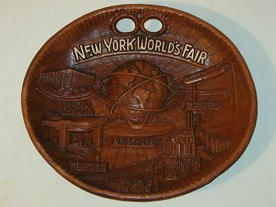 Vintage 1964-1965 New York Worlds Fair UNISPHERE (US Steel) Souvenir Plate!