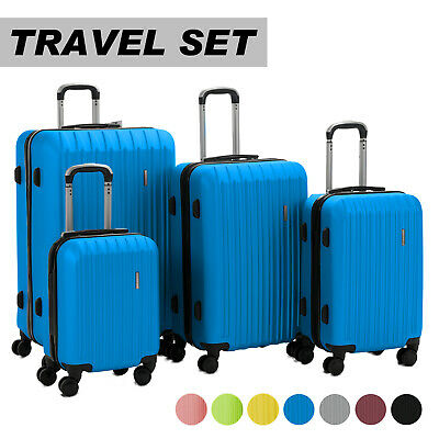 Luggage Travel Set Bag ABS Trolley 360° Spinner Carry On Suitcase with Lock