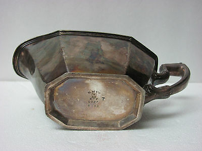 "Antique Gorham EP Silver Gravy Sauce Boat Marked ""GM CO.EP. 0927. 8oz."""
