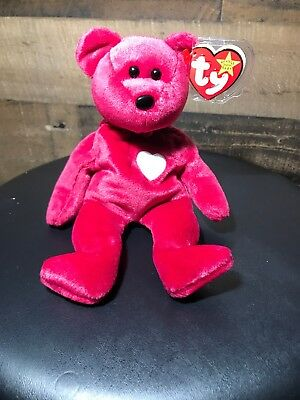 "Ty Beanie Baby Vintage 1998 Retired Valentina with Tag 8"" high"