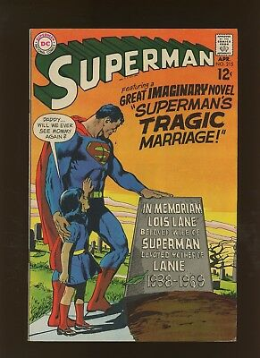 Superman 215 FN+ 6.5 * 1 Book Lot * Lois Lane Dead Yet Alive! Neal Adams Cover!