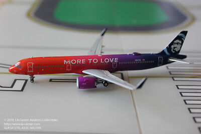 Gemini Jets Alaska Airlines Airbus A321 More to Love Diecast Model 1:400