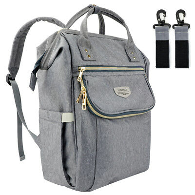 Large Mummy Maternity Baby Diaper Bag Backpack With Stroller Hook US Shipment