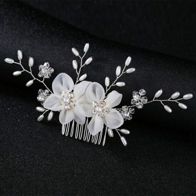 creamy white Wedding  hair bride Accessories  Hair Comb piece Clip Pin Bridal