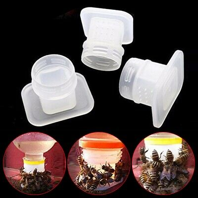 5pcs Bee Drinking Fountain Insect Queen Water Feeder Beekeeping Equipment Set