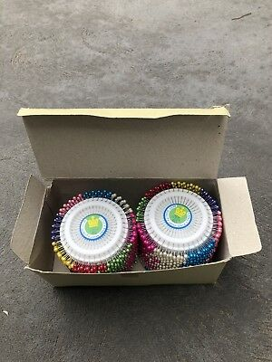 Bulk Pearl Head Pins Wheel Multicoloured 2000pins = $0.06ea
