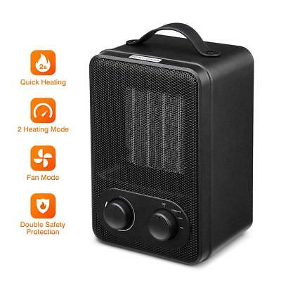 Personal Space Heater 1000/1800W Portable Ceramic Heater and Overheat Protection