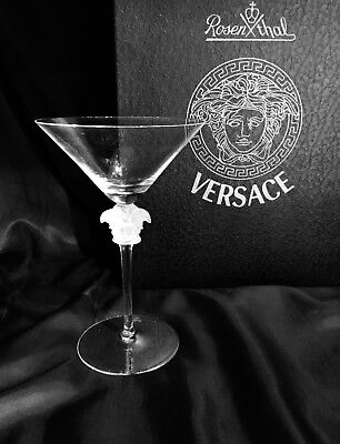 d6b2451469c AUTHENTIC VERSACE MEDUSA Crystal Martini glass