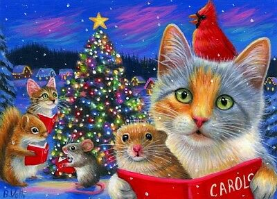 Image result for cat art fantasy christmas