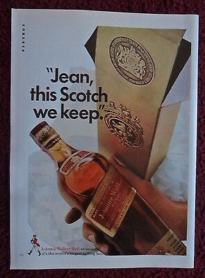 1967 Print Ad Johnnie Walker Red Label Whisky ~ Jean, This Scotch We Keep