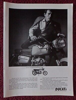 1966 Print Ad Ducati Motorcycle ~ Is the Ducati For Everyone?