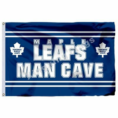 Toronto Maple Leafs Man Cave Flag 3X5ft Polyester Nhl Banner Toronto Maple Leafs