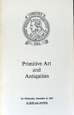 Christies Primitive Art Antiquities London 12/6/1973  -Hj10