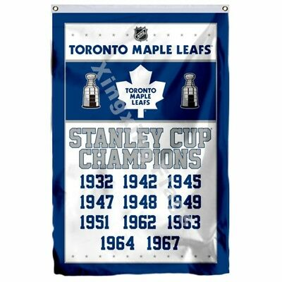 Toronto Maple Leafs Stanley Cup Champions Flag 3Ft X 5Ft Polyester Nhl Banner