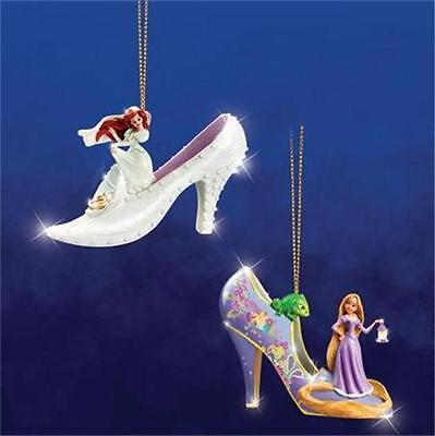 DISNEY ARIEL & RAPUNZEL Once Upon A Slipper Ornament Collection #7 NEW
