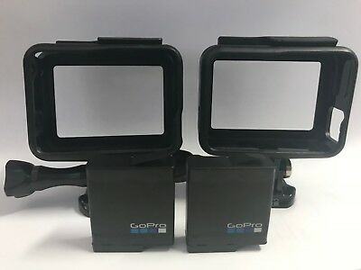 GoPro HERO5/6 and Hero7Black Frames x2 + Replacement Batteries x2 - 100% Genuine