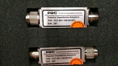 Passive Impedance Adapters 150 to 50 Ohms, FCC-801-150-50-BCI