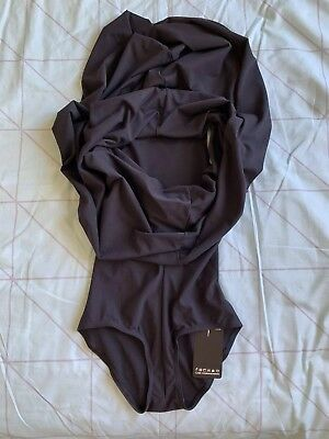 Black Milk Clothing Hooded Bodysuit S NEW WITH TAGS