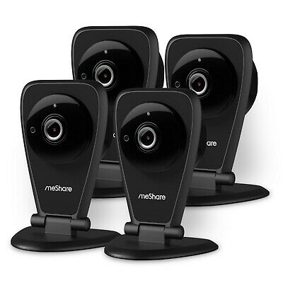 meShare 1080p HD Wireless Security Camera Indoor 4 Pack, Motion Alert, Audio
