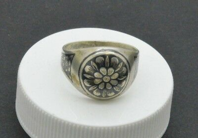 Post Medieval silver ring with drawing