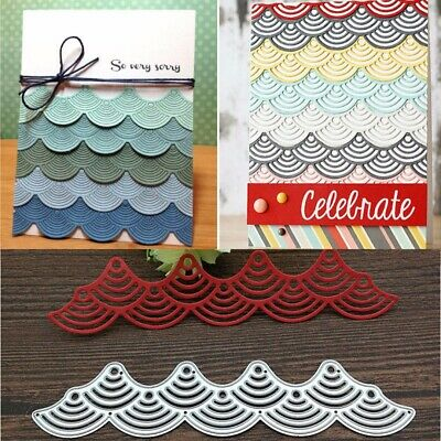 Wavy Lace Metal Cutting Stencil Dies Scrapbook Embossing Album Decor Card Craft