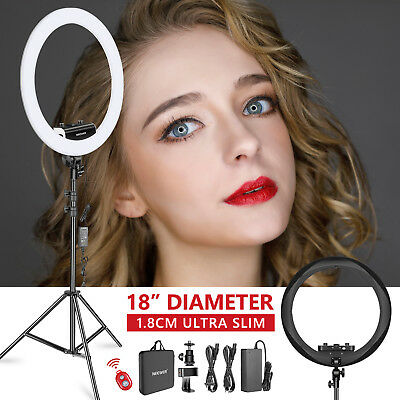 """Neewer 18"""" Dimmable Ultra Slim LED Ring Light with Light Stand Phone Clip Kit"""