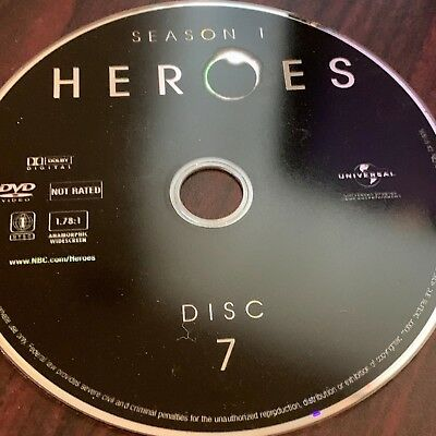 Heroes Season One(Dvd) Replacement Disc #7