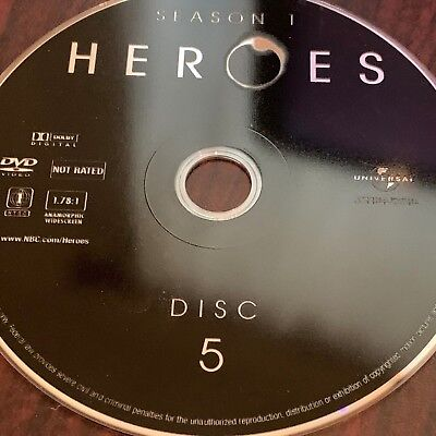 Heroes Season One(Dvd) Replacement Disc #5