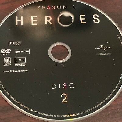Heroes Season One(Dvd) Replacement Disc #2