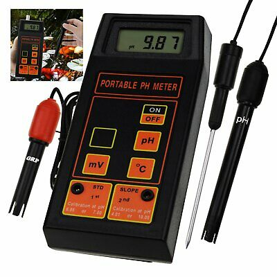 pH / ORP mV / Temperature Meter Water Quality Tester Hydroponics Testing Tool