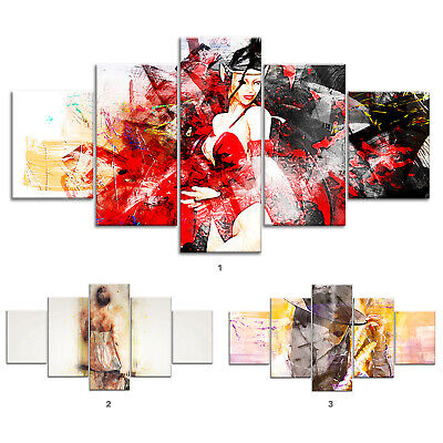 Woman Modern Abstract Canvas Print Painting Framed Home Decor Wall Art Poster