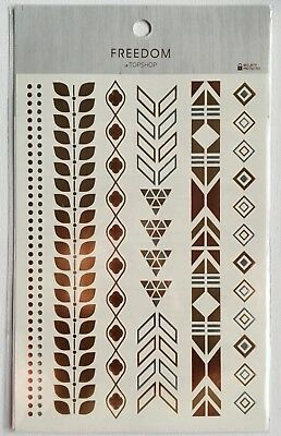 Pack Of Mixed Designs Silver Gold Temporary Body Tattoos Clearance Offer