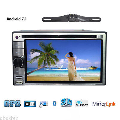 """6.2"""" Car In Dash DVD CD Stereo Player GPS 4G WiFi Touch Mirror Link DVR + Camera"""