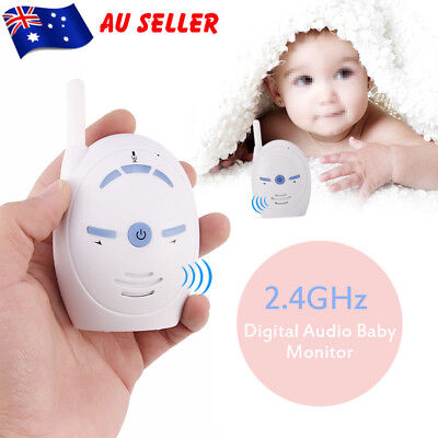 2.4GHz Baby Pet Monitor Wireless Digital 2 Way Audio Video Camera Security White