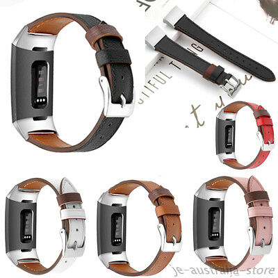 Replace Leather Smart Wrist Watch Band Buckle Strap Bracelet For Fitbit Charge 3